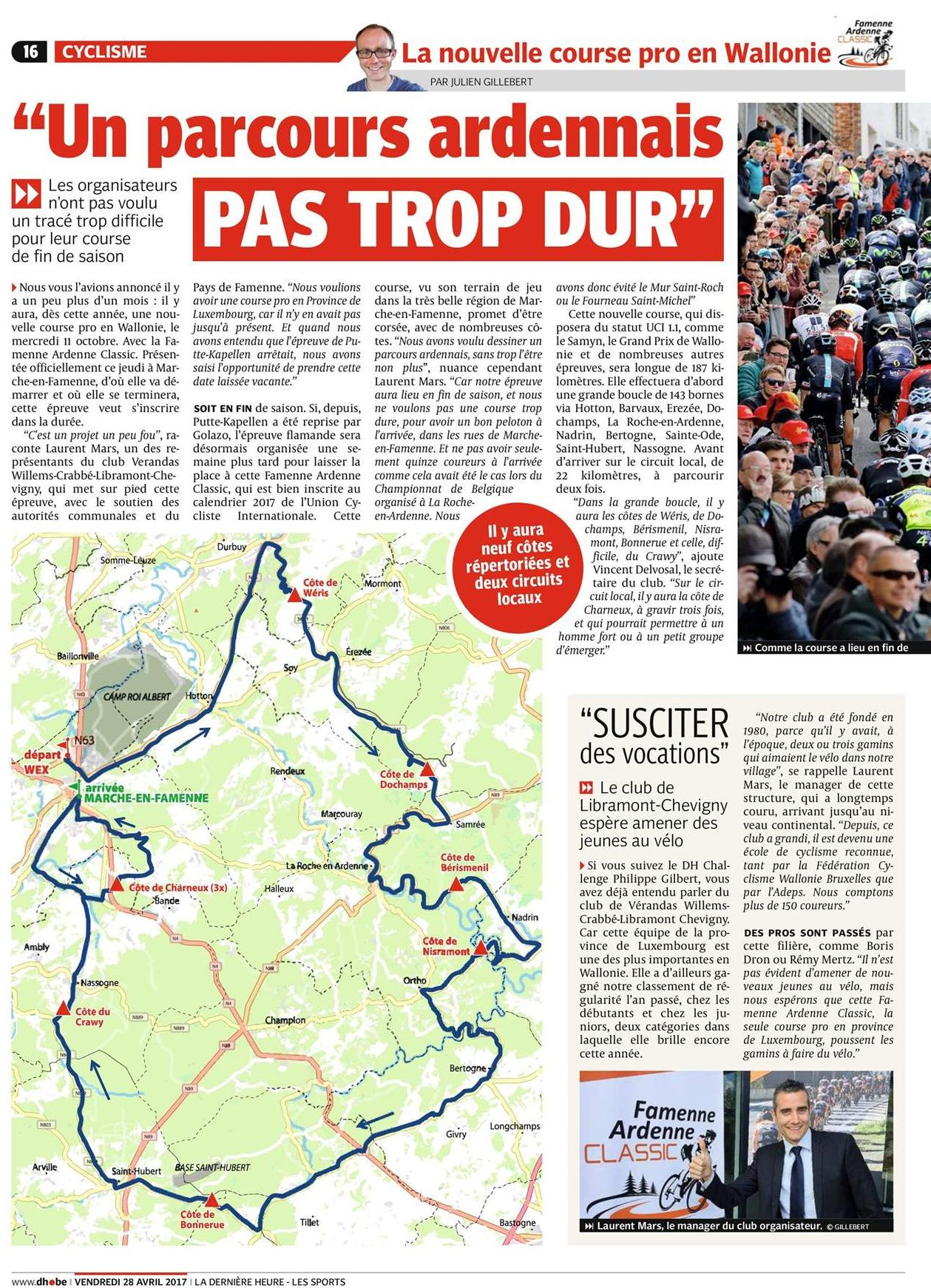 Revue de presse 28 04 17 famenne ardenne classic for Revue de www houseplans com